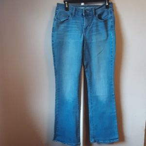 OLD NAVY MIDRISE CURVY BOOTCUT JEANS SIZE 4 SHORT